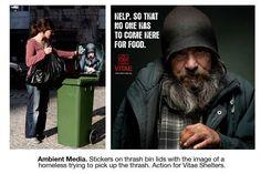 Guerrilla Campaign for Homeless   #BTL }-> repinned by www.BlickeDeeler.de