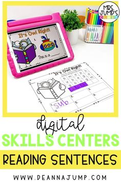 Looking for fun new kindergarten literacy centers that your students can complete digitally? With these center activities, students can practice kindergarten reading fluency by reading simple sentences.