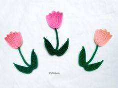 Free Crochet tulip tutorial.