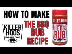 Learn how to make the recipe for Malcom Reed's Killer Hogs Dry Rub. Mix your own batch and use it for Ribs, Pork Butts & Pulled Pork. Pulled Pork Rub, Smoked Pulled Pork, Smoked Beef Brisket, Bbq Dry Rub, Dry Rubs, Meat Rubs, Pork Meat, Bbq Rub Recipe, Brisket Rub