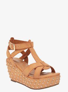 d79edc6685d9 Studded Wedge Sandals (Wide Width)