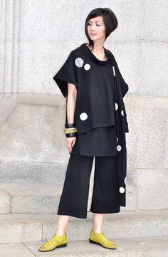 Modena Top in Black/White Tokyo