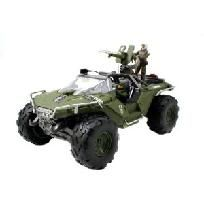 """HALO 4 Combat Edition: 8.75"""" UNSC Warthog Vehicle with Master Chief and Marine Figure"""