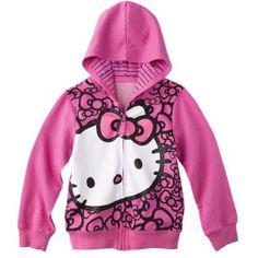 Hello Kitty Hello Style Girls' Sweatshirt -  Fuchsia