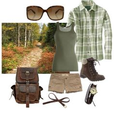 Cute hiking outfit by jumsgirl on Polyvore