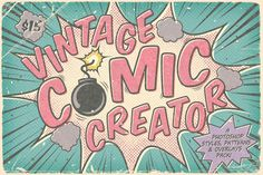 Vintage Comic Book Layer Styles + by The Artifex Forge on Creative Market