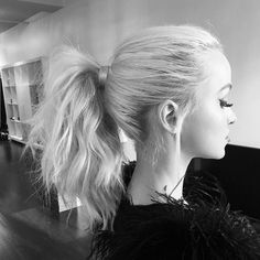 Dove Cameron on @/cwoodhair Instagram.
