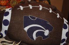 K- State wildcat football burlap door hanger on Etsy, $40.00