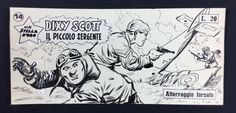 """Bramante, Onofrio - original cover. """"Dixy Scott il piccolo sergente"""" #14 (1961) - W.B."""