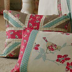Petticoat Union Jack Filled Boudoir Cushion