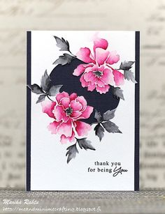 """Inspired by Japanes Peony art, we have created a set of solid images of Peonies and swirls. When you need those quick and simply stamped cards, this will be the perfect set to go to! This is a 4"""" x 6"""""""