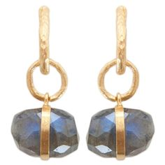 gold and labradorite earrings