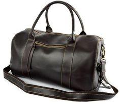 Leather Weekend Bag, Mens Travel Essential Duffle