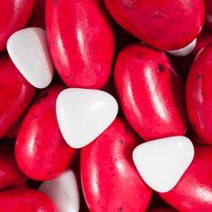 Galets Lorenzo Rouge Cerise et 5 Petits Cœurs Blanc
