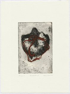 Wounded Planet etching based monoprint Mold Making, How To Make Paper, Planets, Artworks, Art Pieces, Plants