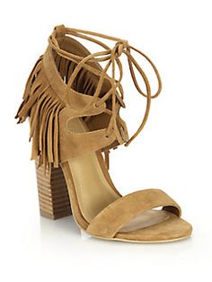 Kendall + Kylie - Saree Fringed Suede Sandals!   Wow super cool shoe!