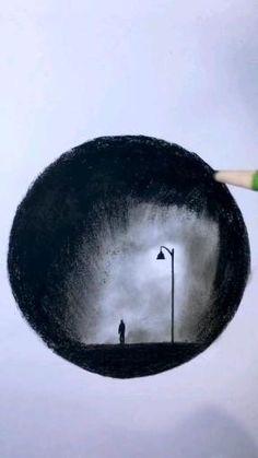 Unique Drawings, Art Drawings Beautiful, Dark Art Drawings, Art Drawings Sketches Simple, Pencil Art Drawings, 3d Art Drawing, Shading Drawing, Drawing Ideas, Imagination Drawing