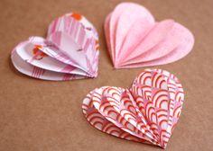 tutorial: Fabric Valentine hearts garland {How About Orange}