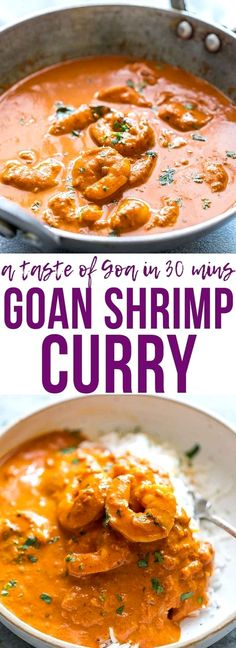 Goan Prawn Curry or Shrimp Curry with Coconut is a spicy, sour Indian curry that comes from Goa and is also called Ambot Tik. Ready in 30 minutes it's a simple Indian curry that anyone can make! Perfect for fast, weeknight dinner. Gluten Free. via @my_foodstory India Food Для получения информации посетите наш сайт https://storelatina.com/india/recipes #comida #vacationindian #viagemindia #travelindia