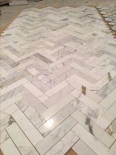 Poished marble Herringbone floor tiles. A sight for sore eyes. https://tilebuys.com/products/calacutta-gold-marble-2x8-herringbone-mosaic-tile #tilebuys #tilebuys2017 #luxuryhomes #luxuryhomebuilder #homedesign #luxuryhome #luxuryproperties #luxuryrealestate #homeimprovement #luxurydesign #designer #interiorstyle #interiordesign #interiordesigner #interiordesigners #interiordesignideas #interiordesigns #interiordesigning #interiordesigninspo #luxedesign #customhomedesign #renovation…