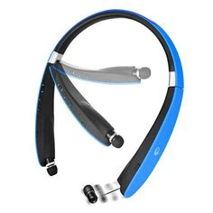 Buy Bluetooth Headset, Bluetooth Headphones Wireless Neckband Design with Foldable Retractable Headset for iPhone X/ Plus Samsung Galaxy Note 8 and Other Bluetooth Enabled Devices White Headphones, Best Headphones, Bluetooth Headphones, Wireless Headphones, Galaxy S8, Samsung Galaxy, Neckband Headphones, Noise Cancelling, Cell Phone Accessories
