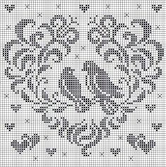 Brilliant Cross Stitch Embroidery Tips Ideas. Mesmerizing Cross Stitch Embroidery Tips Ideas. Cross Stitch Heart, Cross Stitch Borders, Cross Stitch Animals, Cross Stitch Designs, Cross Stitching, Cross Stitch Embroidery, Filet Crochet Charts, Crochet Stitches Patterns, Doily Patterns
