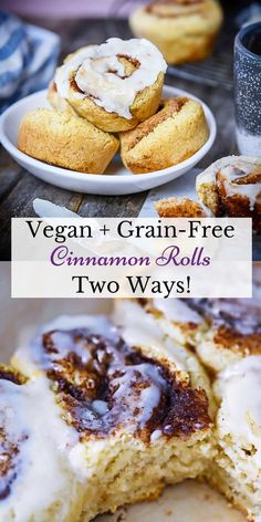 Scrumptious Vegan + Grain-Free Cinnamon Buns Recipe! #easyrecipes #veganbreakfast #grainfree #glutenfreebaking #dairyfree #cinnamonbuns #rolls #stickybuns Cinnamon Bun Recipe, Cinnamon Rolls, Vegan Breakfast, Best Breakfast, Breakfast Recipes, Vegan Recipes, Baking Recipes, Sweet Recipes, Sticky Buns