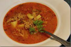 Gulášovka z Kotrče s brambory01 Thai Red Curry, Ethnic Recipes, Food, Essen, Meals, Yemek, Eten