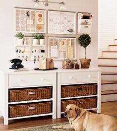 A beautifully organized entryway!
