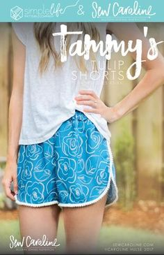 Ladies Tammy's Tulip Shorts Collaboration with Simple Life Pattern Company - PDF Instant Download - Sizes XS-XXL