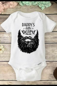 Beard Onesies® Brand or Carter's® Bodysuit Hipster Funny Baby onsie Fathers Day Gift Baby Pregnancy Reveal Shirt Daddy's Little Beard Puller #affiliate #toddleroutfits