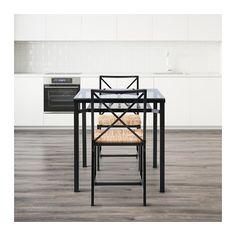 GRANÅS テーブル&チェア2脚 IKEA テーブルトップは強化ガラス製。お手入れが簡単で、普通のガラスに比べ、耐久性に優れています…
