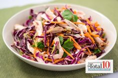 Total 10 Thai Chicken Bowl | The Dr. Oz Show  http://www.doctoroz.com/recipe/total-10-thai-chicken-bowl