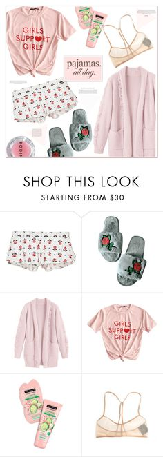 """""""pajamas all day"""" by mycherryblossom ❤ liked on Polyvore featuring Cosabella, Ann Demeulemeester, Rodin and LovelyLoungewear"""