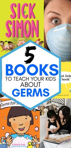 If you are struggling to get your kids to wash their hands and cover their mouths, these books about germs will explain things in a kid-friendly way. Toddler Books, Childrens Books, Germs For Kids, Teaching Kids, Kids Learning, Educational Apps For Kids, Why Book, Kids Behavior, Kids And Parenting
