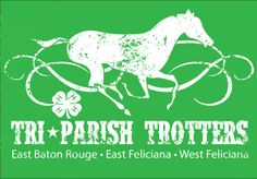 Logo design to be used for print media, t-shirts, and more of the Tri-Parish Trotters 4-H Horse Club.