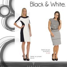 Para el evento en donde no puedes ir de jeans pero tampoco de vestido largo. #vestidocorto #blackandwhite #dress #evento