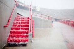 Huskers spring game rained out - April 14, 2012...I remember this day....TWC's Dr. Forbes had us 9/10 TORCON  for a HUGE tornadic outbreak.  Spring Game cancelled.  Cantore was there