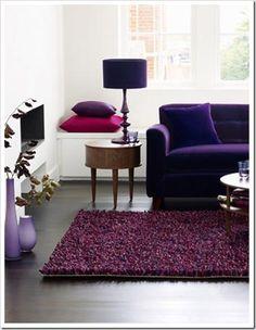 Desiretoinspire | Living Rooms | Pinterest | Purple Couch, Purple Sofa And  Purple