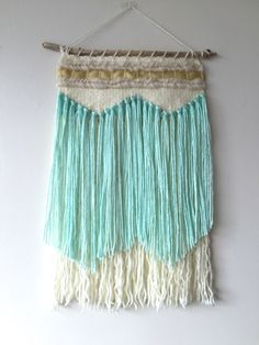 WEAVING / Woven Wall Hanging / Weaving Wall Hanging / Fiber Art / Tapestry by DRIEdesigns on Etsy https://www.etsy.com/listing/227482722/weaving-woven-wall-hanging-weaving-wall