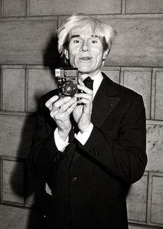 Andy Warhol was known to take photos of paparazzi or fans snapping pictures of him