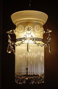 French Boudoir Chandelier, late 1800's