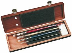 Amazon.com - Da Vinci Series 5280 4 Brush Mahogany Box Watercolor Set with Free Brush Soap -