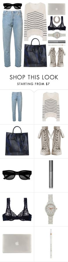 """""""sunday yay"""" by foundlostme ❤ liked on Polyvore featuring RE/DONE, iHeart, Prada, Zimmermann, Sun Buddies, Perricone MD, STELLA McCARTNEY, Tucano, Barry M and H&M"""