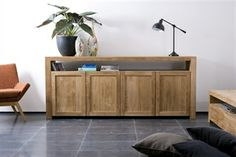 Discontinued Item Limited Stock Available 1 in Southampton Teak Double Dresser with 4 Panel Doors and One Shelf Teak Furniture, Small Furniture, Furniture Design, 4 Panel Doors, Buffet Teck, Oak Sideboard, Credenza, Double Dresser, Stair Storage