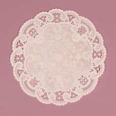 25 Large White French Lace Paper Doilies 8 Inches by LemonZestCo
