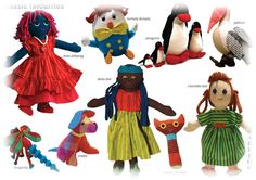 Barefoot Toys by Barbara Sansoni Sri Lanka, Puppets, Barefoot, The Darkest, Vibrant, Design Inspiration, Romantic, The Originals, Disney Princess