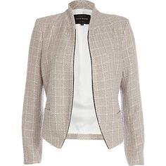 Beige structured cropped jacket - coats / jackets - sale - women