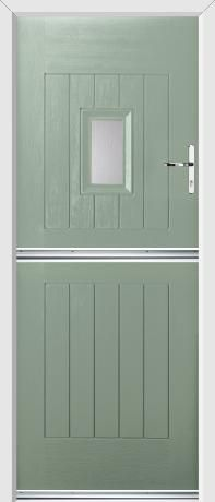 Our Rockdoor Stable Doors are secure and stylish! This door is our Ultimate Stable Spy Rockdoor in Chartwell Green with Clear Glazing! Composite Door, Back Doors, Garages, Stables, Spy, Cottages, Entrance, New Homes, Exterior