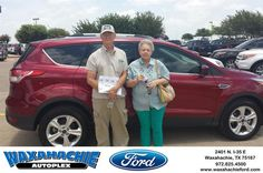 https://flic.kr/p/HLZjow | Happy Anniversary to James  on your #Ford #Escape from Patrick Pennington at Waxahachie Ford! | deliverymaxx.com/DealerReviews.aspx?DealerCode=E749
